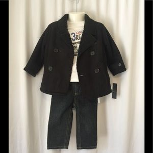 Kenneth Cole Reaction Set Coat Jeans Top 18 mo